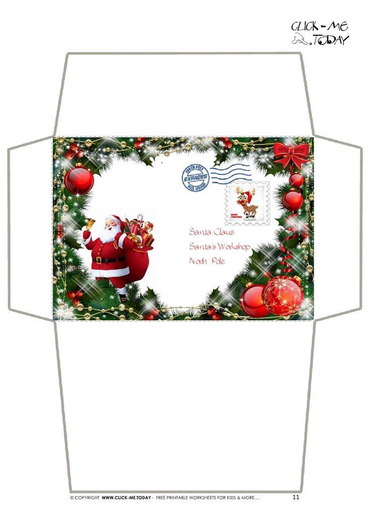 printable christmas labels envelopes
