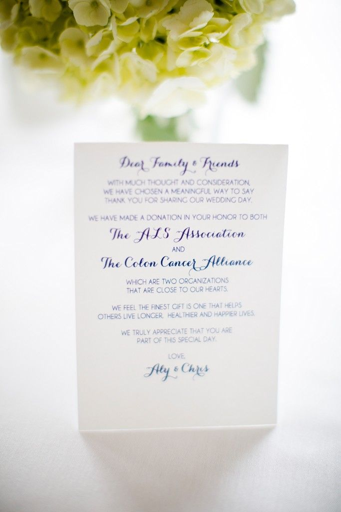 Pinterest Wedding Favor Donation Wording