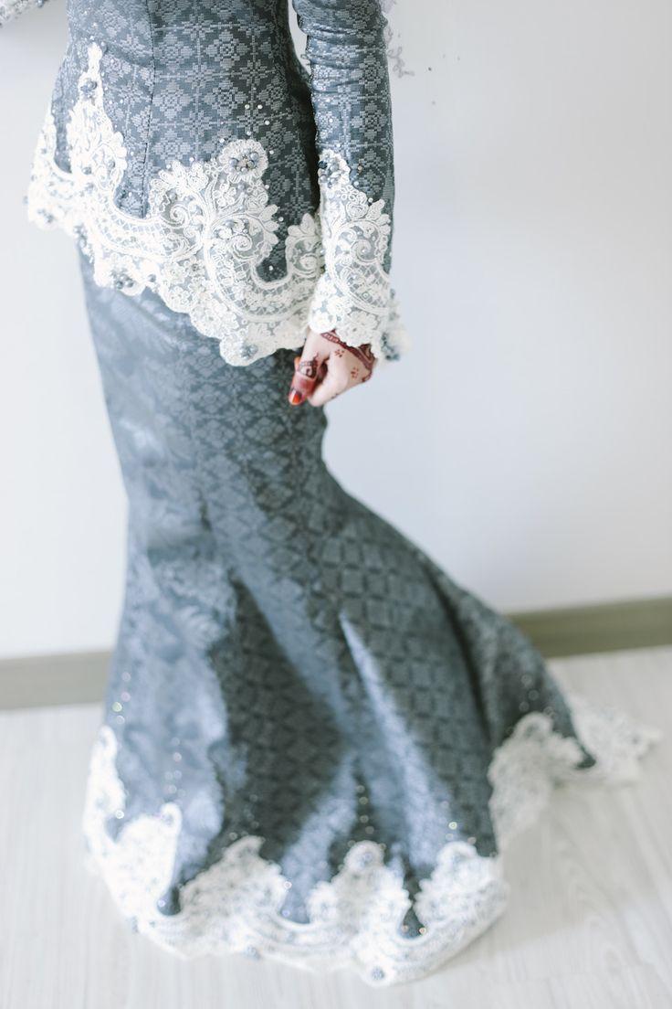 Baju Moden Nikah Lace Kurung
