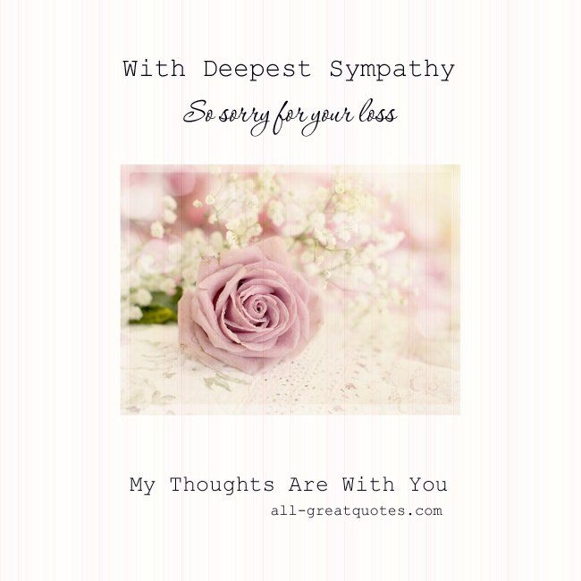 Our Deepest Sympathy Sayings