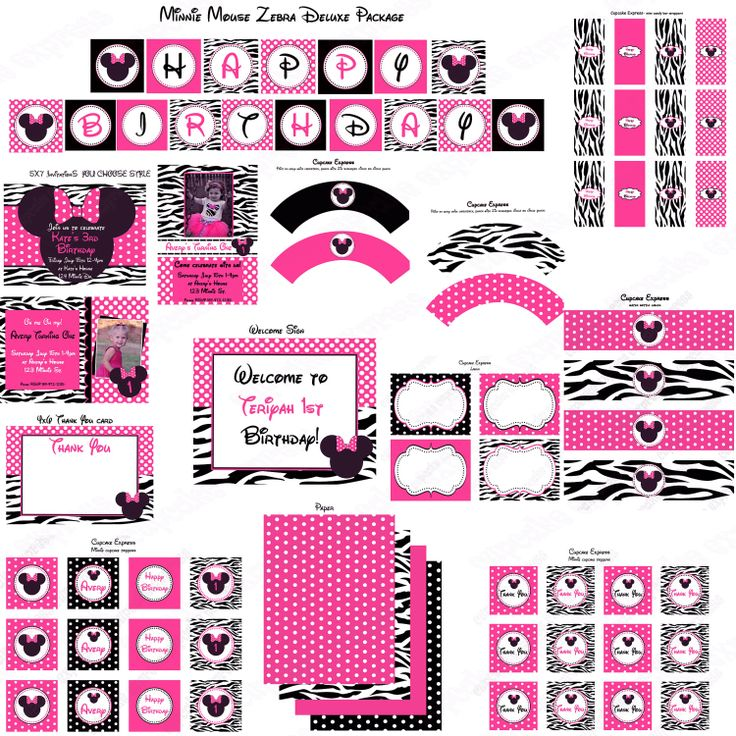 Food Display Cards Minnie Mouse