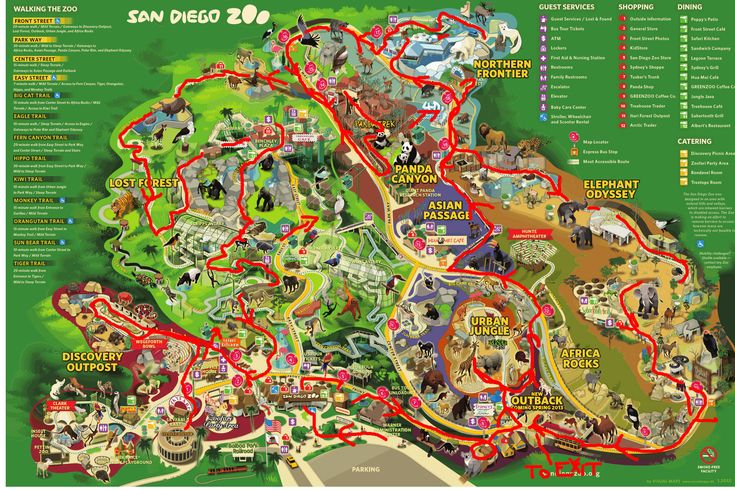 La Zoo Lights Map