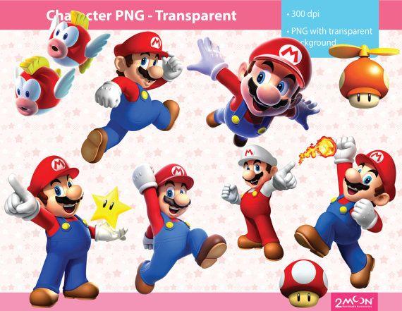 54 Mario Character Png Images 300 Dpi Scrapbooking
