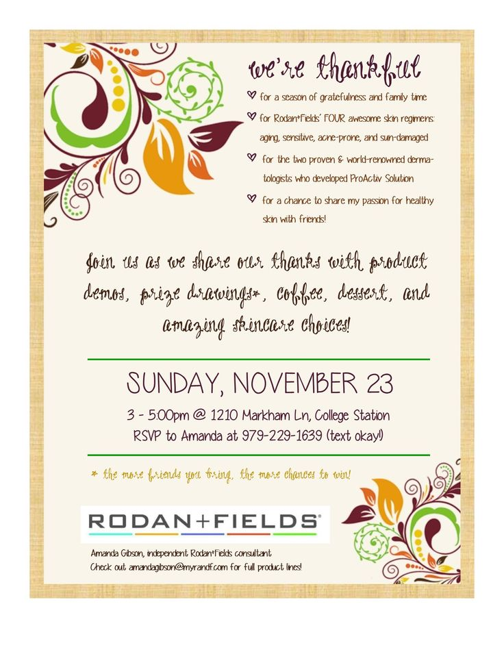 Rodan And Fields Bbl Invitation