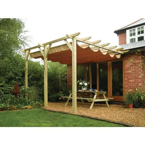 Retractable Pergola Outdoor Awning I Am Thinking Diy 1