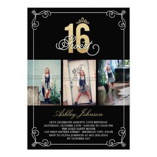 Cheap Cute Sweet 16 Invitations