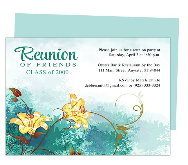Class Reunion Invitations Template - Resume Builder