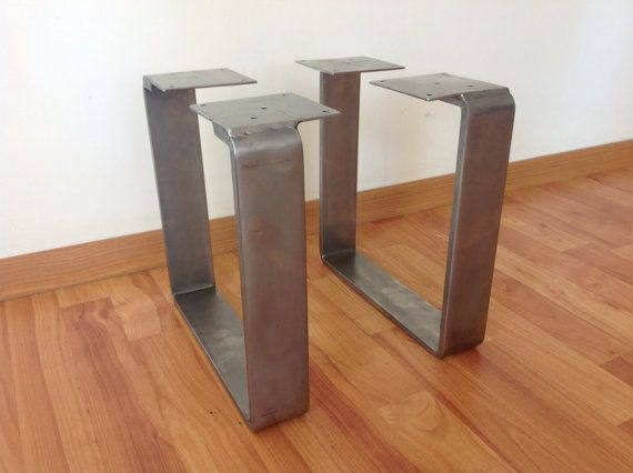 28 Quot X 20 Quot Table Legs Flat Steel Table Legs Stainless