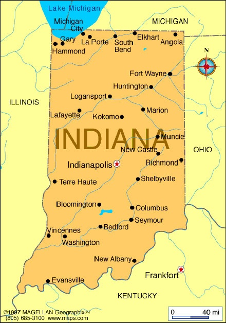 Underground Railroad Maps Indiana