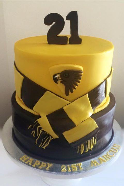 Hawthorn Afl Cake Guy Cake Sugar Gallery Cakes