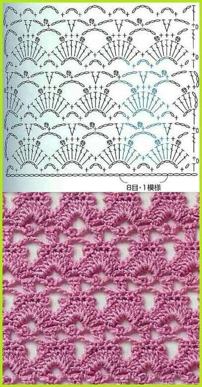 Fans And Lace Scarf Knitting Pattern