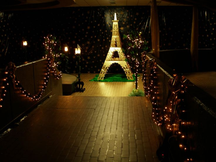 Paris Theme Table Decorations Prom