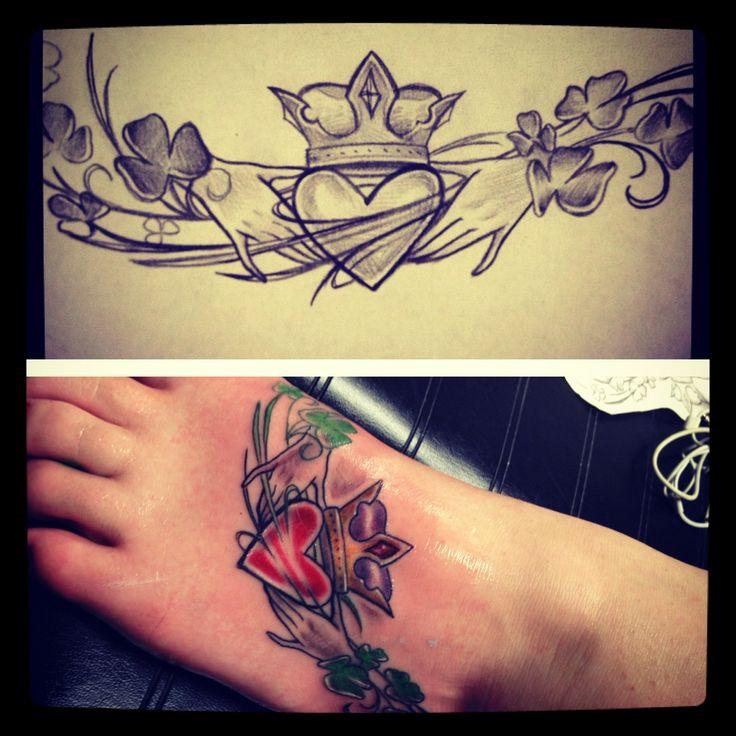 Back Tattoos Ring Claddagh