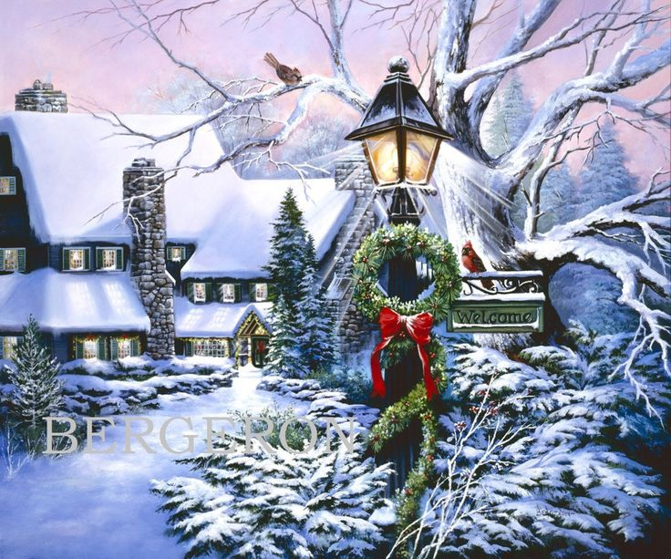 Christmas Bridge Cards Country