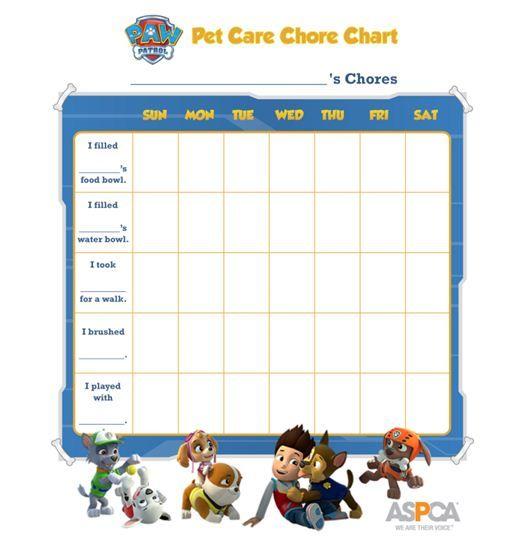Paw Patrol Printable Behavior Chart
