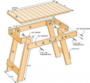 Free Portable Grill Table Plans Garage Pinterest