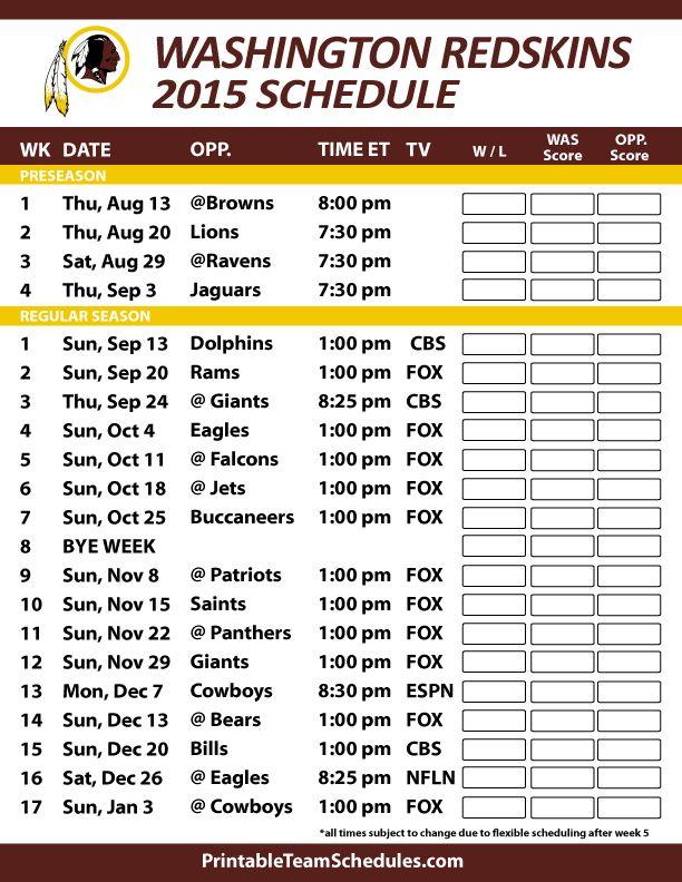 Texans Football Schedule 2018 Printable