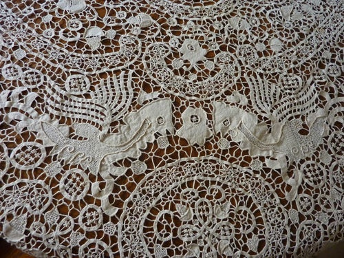Victorian Lace Tablecloths Fringe
