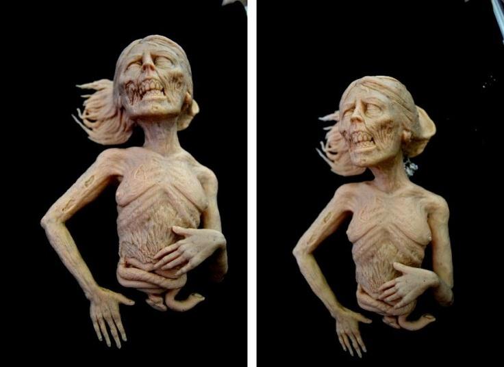 Clay Ideas Creepy Sculpture Cute