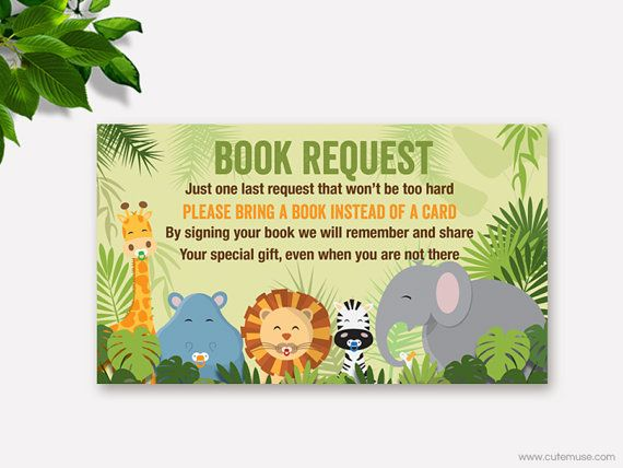 Baby Shower Invitations Zoo Animals