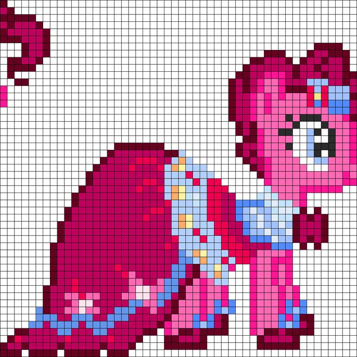 Minecraft Pie Art Templates Pinkie Pony Pixel