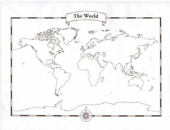Printable World Map Without Labels