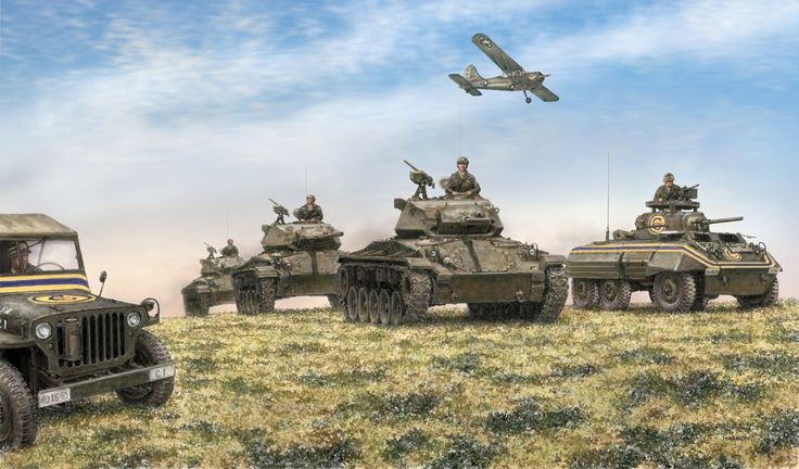 Painting 8th Army Vehicles