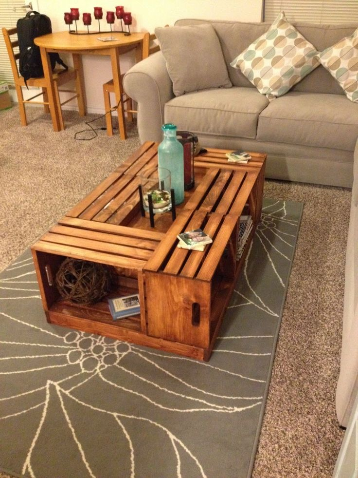 Crate Coffee Table Pinterest