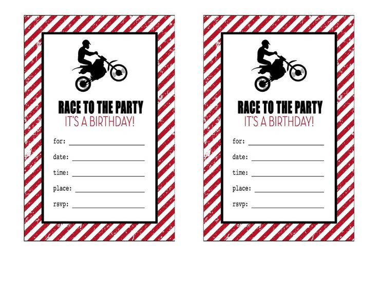 Motocross Free Birthday Invitations Printable