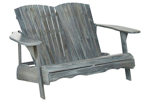 Wooden Twin Garden Seats