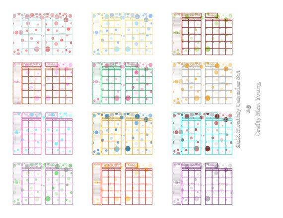 3 Month Planning Calendar 2014