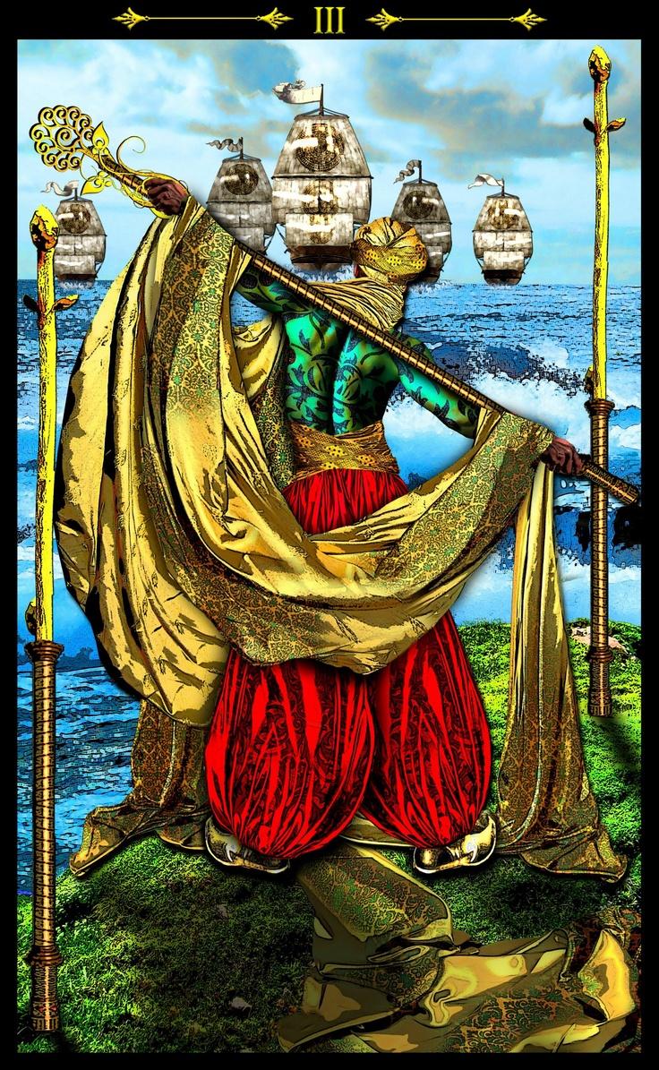 Queen Wands Tarot Love