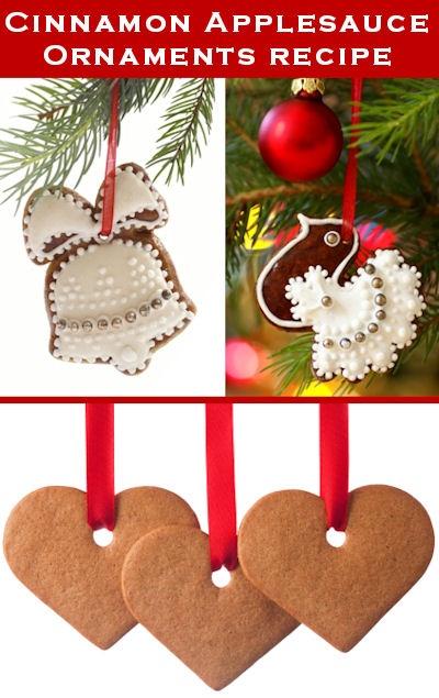 Christmas Ornament Cinnamon Applesauce Recipe