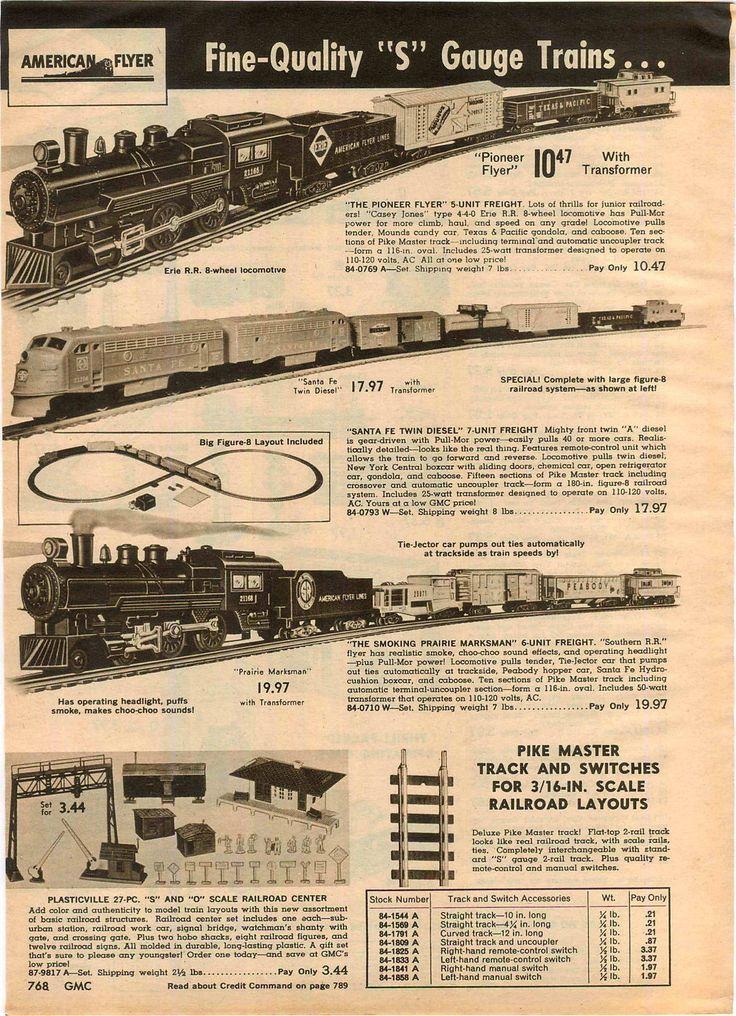 American Flyer Train Set 1962