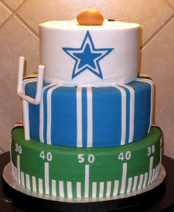 1 2 Cowboys And Texans Birthday Cake