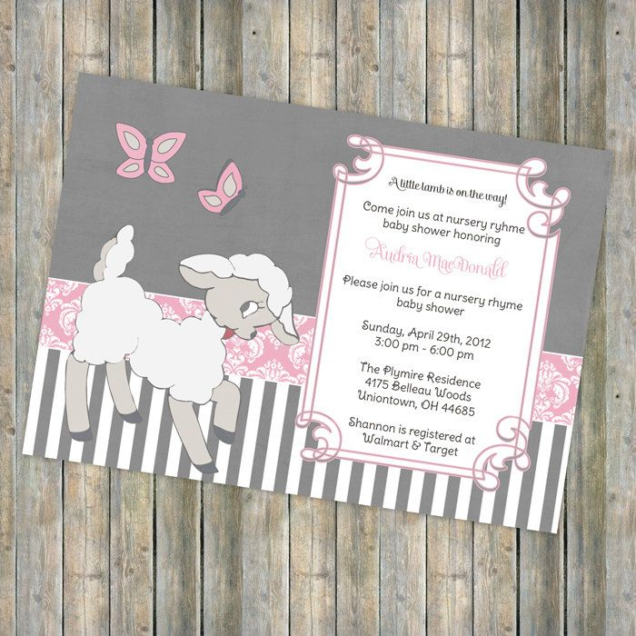 Baby Shower Invitations Lamb