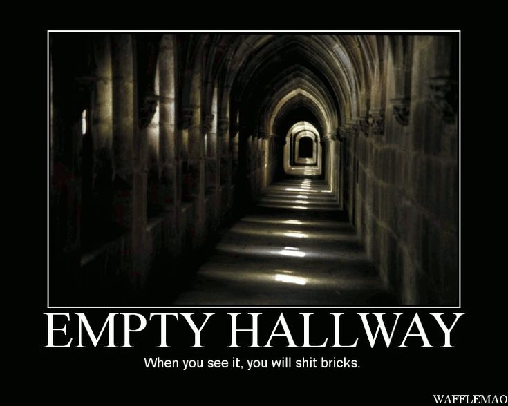When You See It Scary Empty Hall