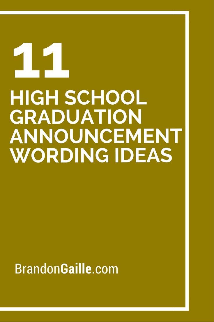 Unique High School Graduation Announcements