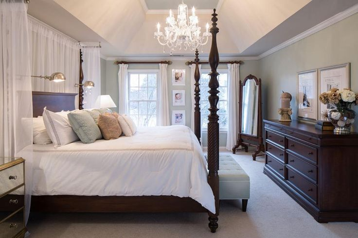 Tray Ceilings Frame A Crystal Chandelier Having Over The