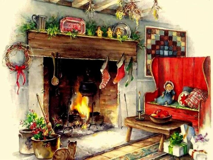 Xmas Fireplace Screensaver