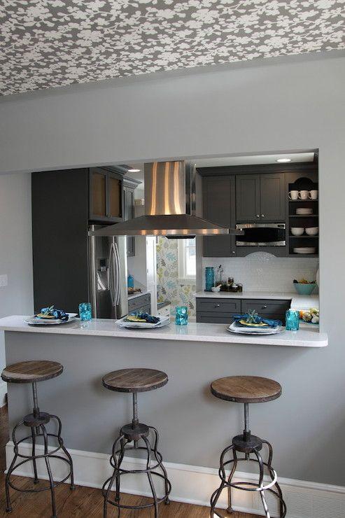 Counter Breakfast Bar Against Wall