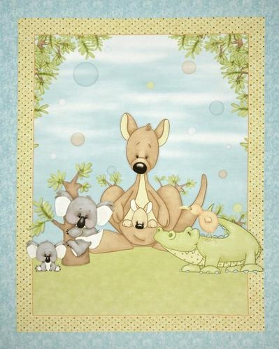 Fabric Panels Down Under And Kangaroos On Pinterest