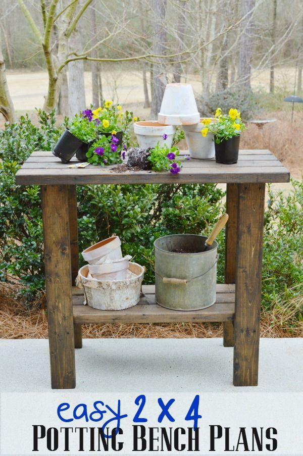 Potting Bench Plans Small Spaces Woodworking Plans And