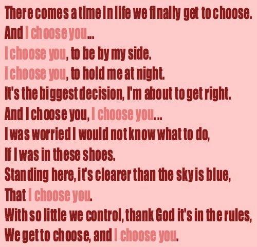 Pick Me Choose Me Love Me Movie Quote