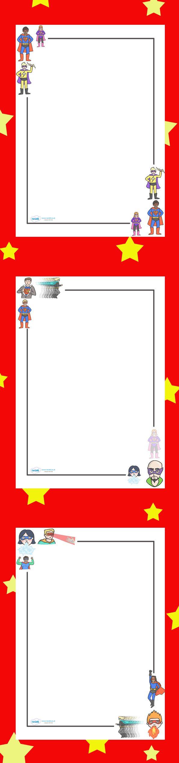 Superhero Borders Template