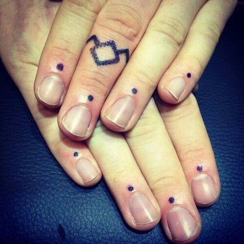 Web Three Dots Tattoo Hand