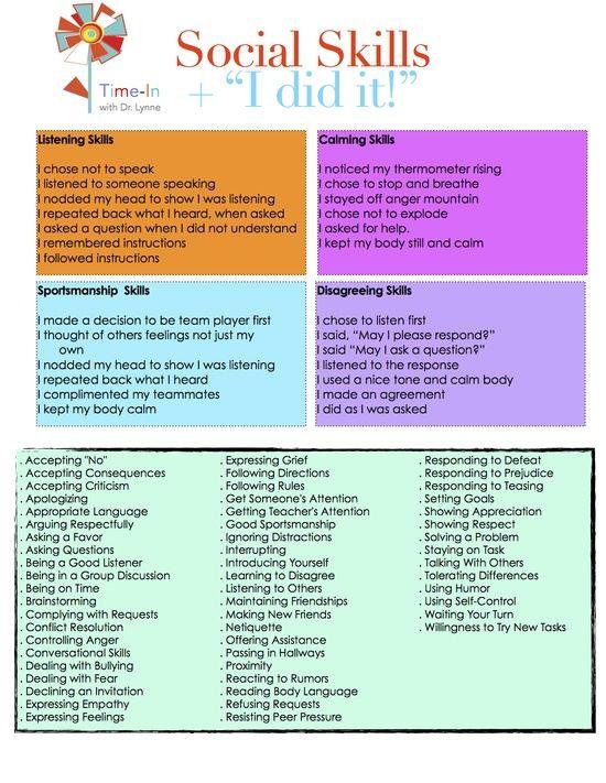 Autism Teaching Social Skills Worksheets