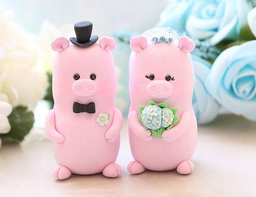 Groom And Clip Pig Bride Art