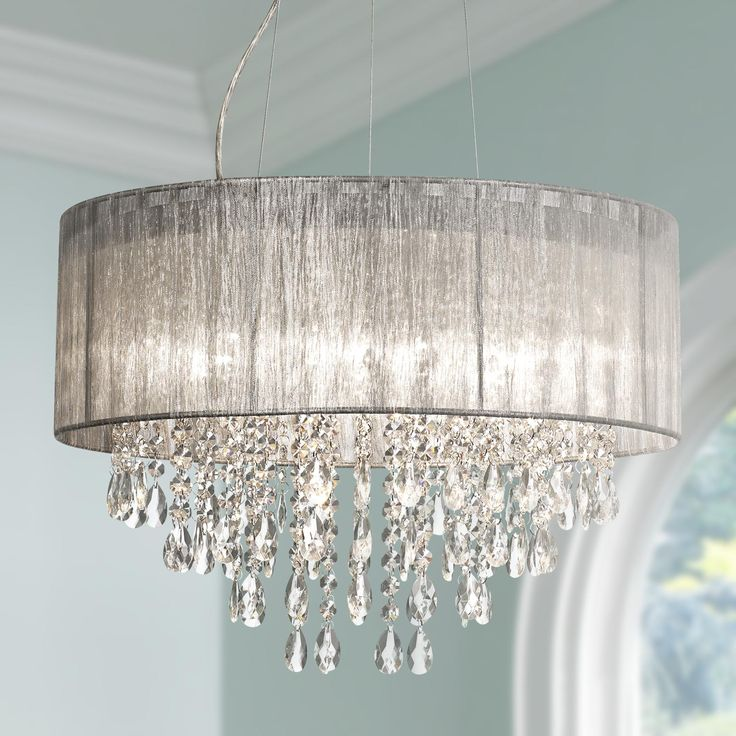 Fabric Shade Pendant Light