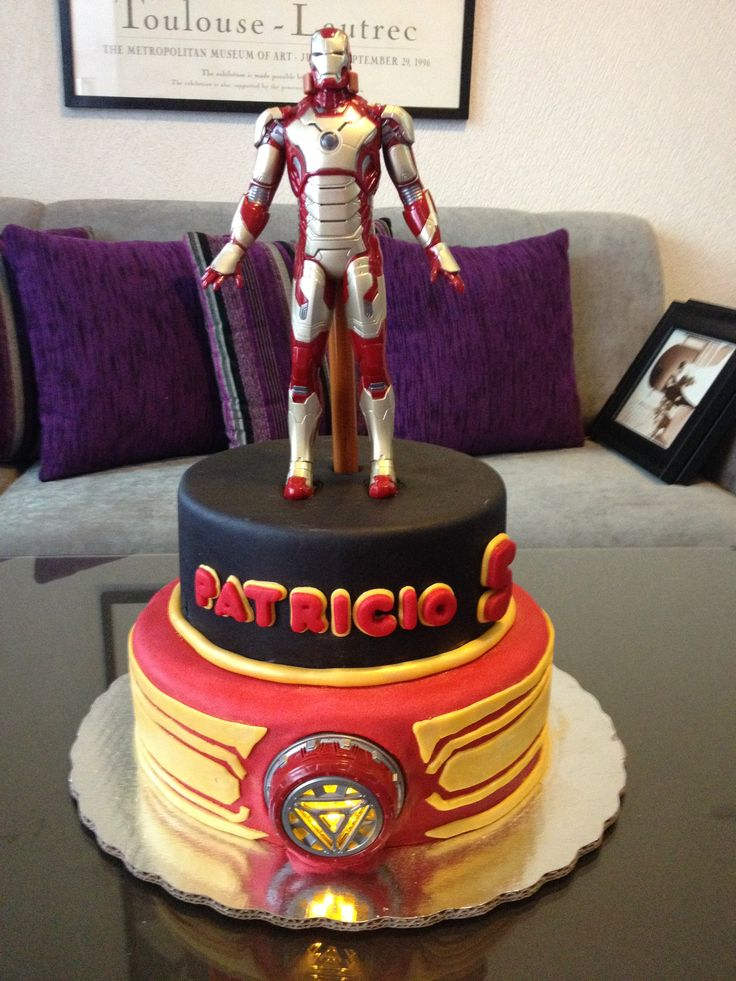 Pastel De Chocolate Iron Man By Fiestas De Fantas 237 A